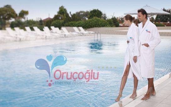 Sağlığınız İçin 5* Afyon Oruçoğlu Termal Resort'da Standart Odalarda Kişi Başı Yarım Pansiyon Konaklama + Termal Havuz Tatil Fırsatı %37 İndirimle!
