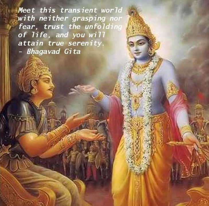 a look at the themes in bhagavad gita Take a look at some of these bhagavad gita lessons you can use to bring your life back on the right track read more: 10 stress management tips you can learn from the bhagavad gita you might even want to take a few learnings from here and stick some bhagavad gita quotes on your desk or put them on a bookmark.