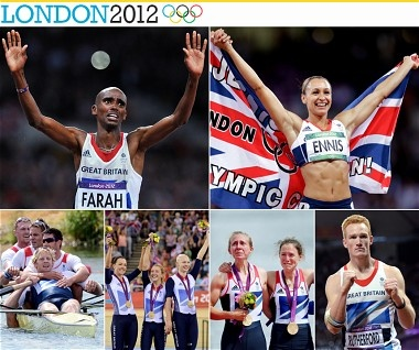 Super Saturday, 4th august 2012 - TeamGB's Gold medal winners