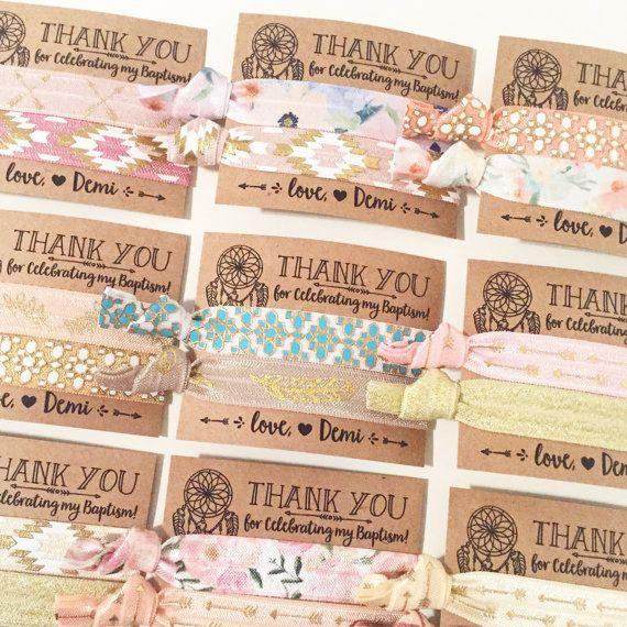Dreamcatcher Boho Birthday Party Hair Tie Favors  by LoveMiaCo