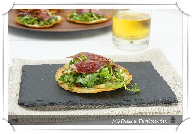 Mi dulce tentación: Tosta Crujiente de Ensalada y Jamón de Bellota