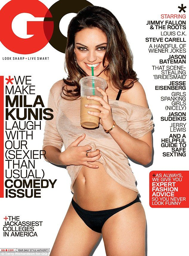 A. my girl crush, Mila Kunis, B. a body like hers, C. the iced coffee she's holding, D. ALL OF THE ABOVE