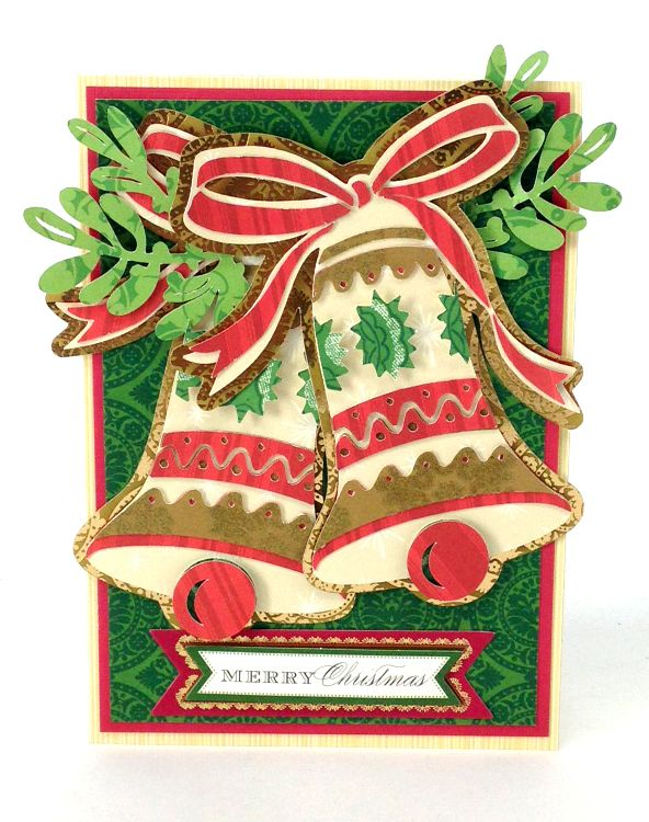 cartridge card 1. From Winter Wonderland cartridge. Christmas card with bells