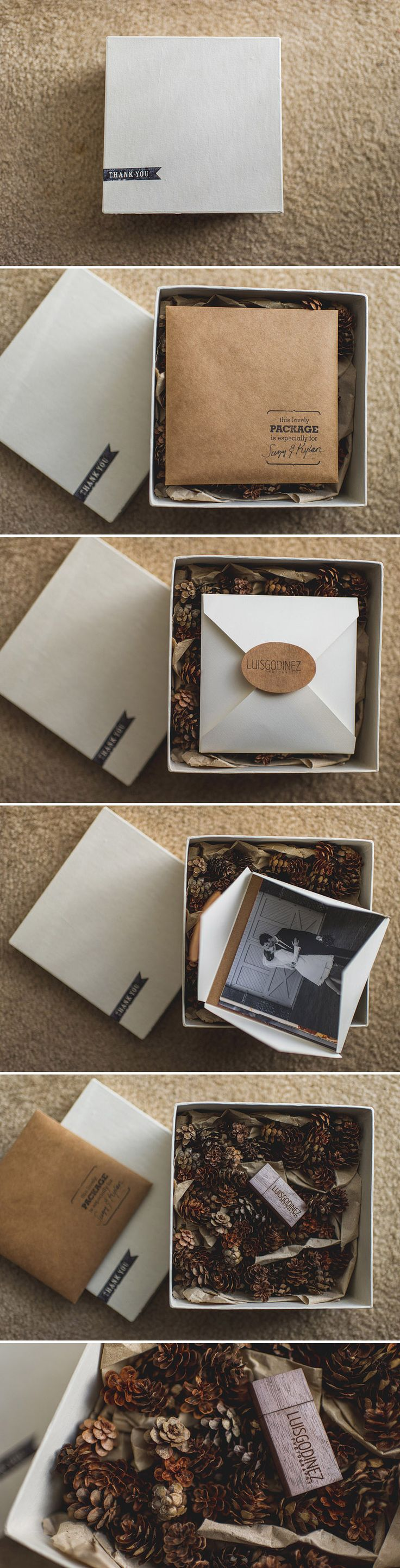 Wedding USB packaging