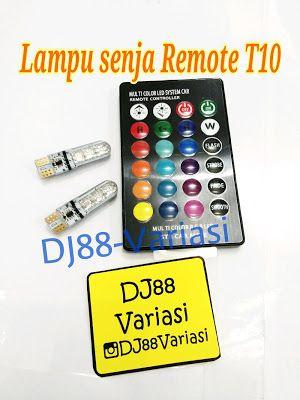 Lampu senja sein T10 pake remote universal biru merah hijau putih kuning ungu