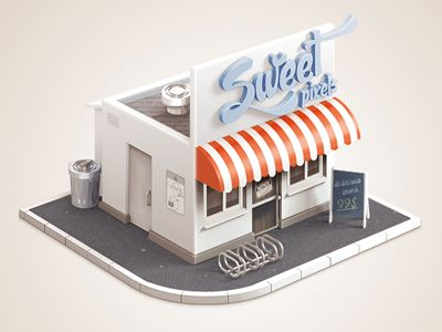 Sweet building icon design