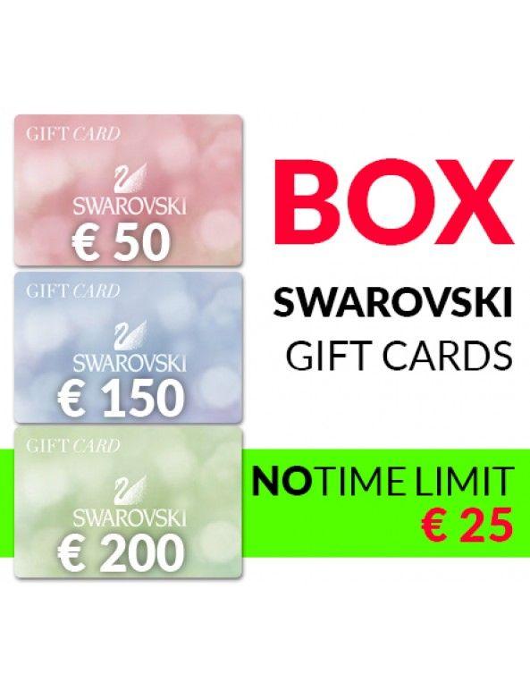 Swarovski Box Gift Cards x 3. Win or 100%Cashback!!