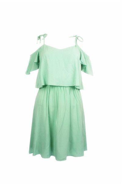 Внешнеторговый сингл H освежающий зеленый хлопок шелк оборки юбки Жгутого платье пляж туризм курорт XXL