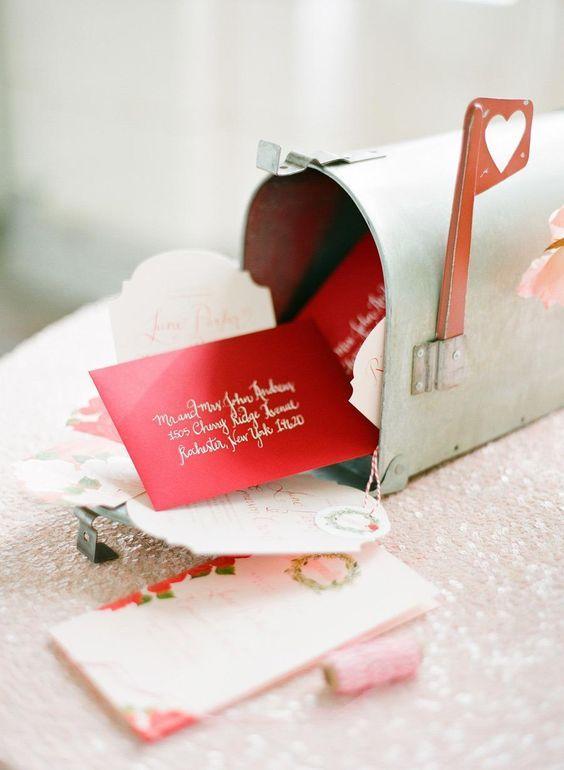 love letters wedding mailbox / http://www.himisspuff.com/mailbox-wedding-decor-ideas/10/