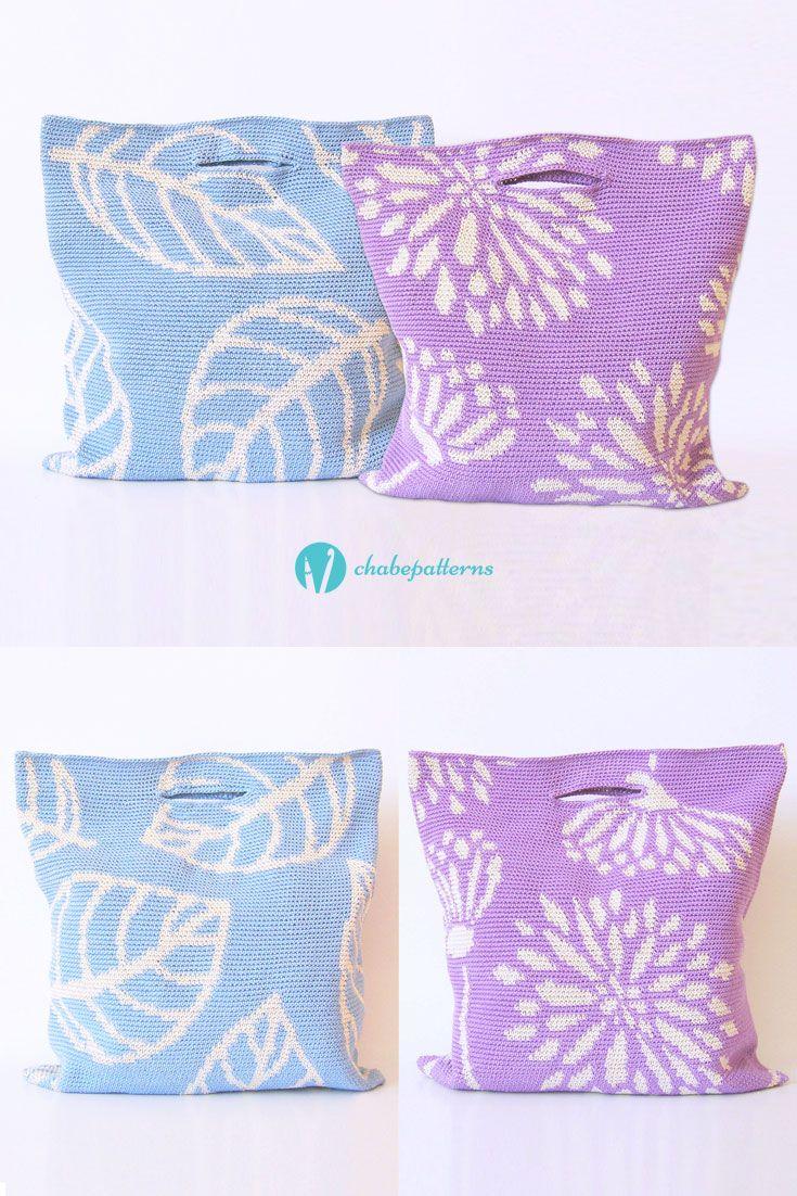 55 best Bags crochet patterns/ Patrones para bolsos a ganchillo ...