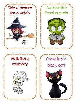 Halloween Gross Motor Cards