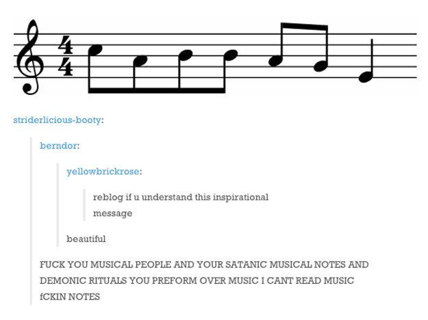 """This person who's really upset about not being able to read """"cabbage."""" 