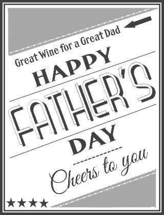 Father's Day wine bottle label free printable wine labels and tags at thewinecrafter.com funny retro birthday halloween christmas movie inspired etc