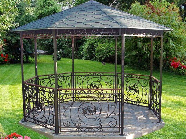 Как сделать садовую беседку на даче из металла своими руками, фото, видео о том, как построить летнюю беседку