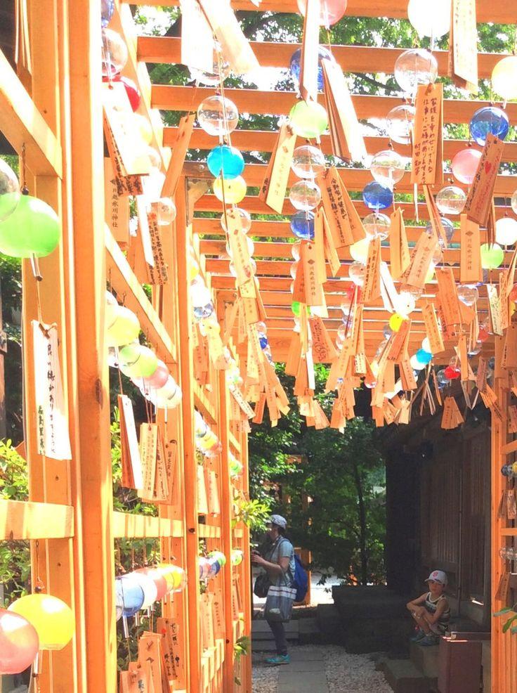 Wind chimes at Hikawa Shrine in Kawagoe