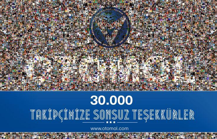 30.000 takipçimize sonsuz teşekkürler.