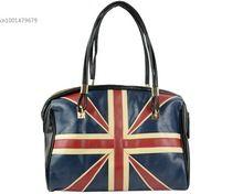 Lates pelle sintetica moda donna flag bag inghilterra pattern signora handbag shoulder bag purse tote nave di goccia(China (Mainland))