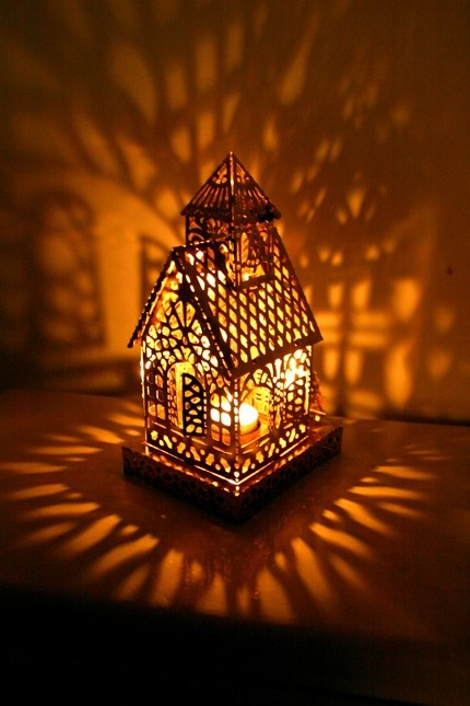 Vintage Shadow Lantern Church - I'm not religious but the constellations are so pretty, something I could potentially use in my own work.
