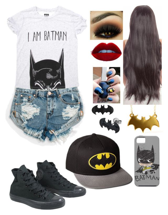 """""""Untitled #71"""" by bubblegumprincess831 on Polyvore featuring OneTeaspoon and Converse"""