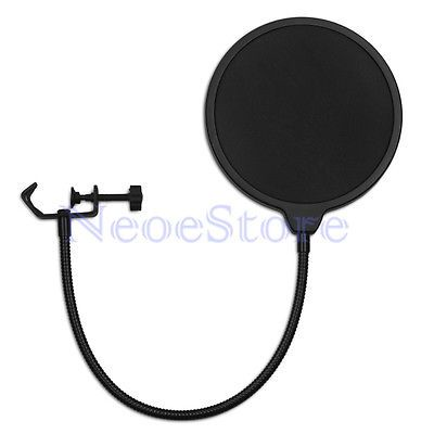 Dual Double Layer Record Studio Mic Microphone Windscreen Pop Filter Mask Shield