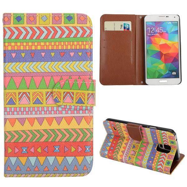 Indianen stijl booktype hoes voor Samsung Galaxy S5