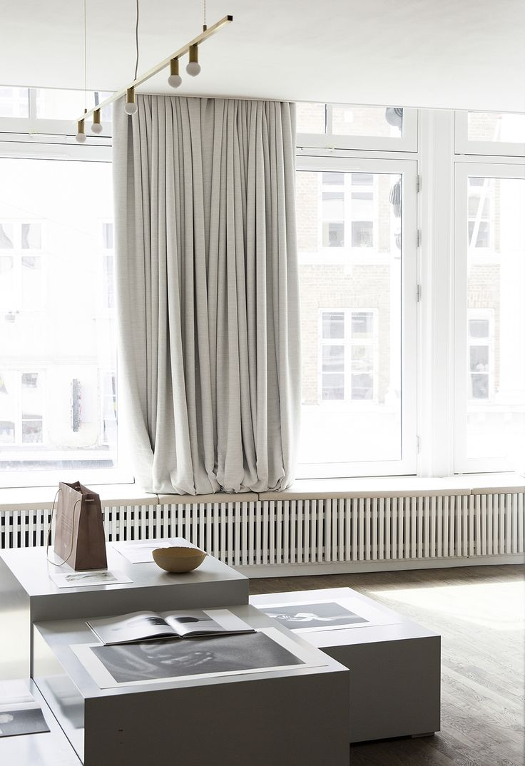 Between richness and constraint. Norm Architects on Dezeen about their interior design for Kinfolk's stunning new head office in Copenhagen, feature our beautiful Kinnasand Relax Curtains. Photo: Norm Architects / Kinfolk