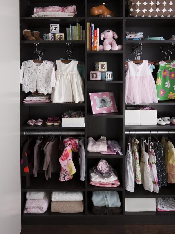 Kids' Closet Ideas : Love the vertical  rods to give a boutique look. Great idea to save space!