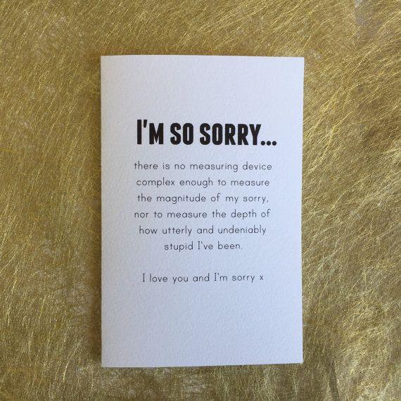 Best friend card bestie card im sorry card by giftdesigns on Etsy