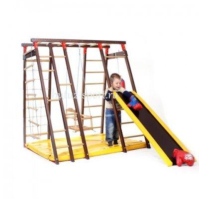 Спортивный уголок для детей Чемпион деревянный