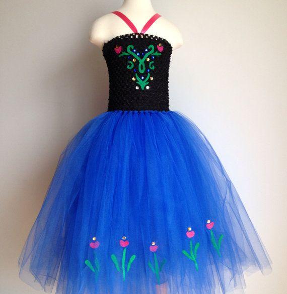 Princess Anna Frozen inspired tutu dress by JessicaLilyLove, $55.00