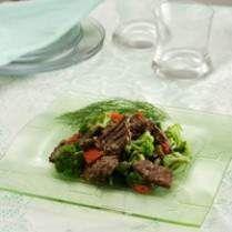 Resep MASAKAN Sapi Brokoli Bumbu Ngohyong