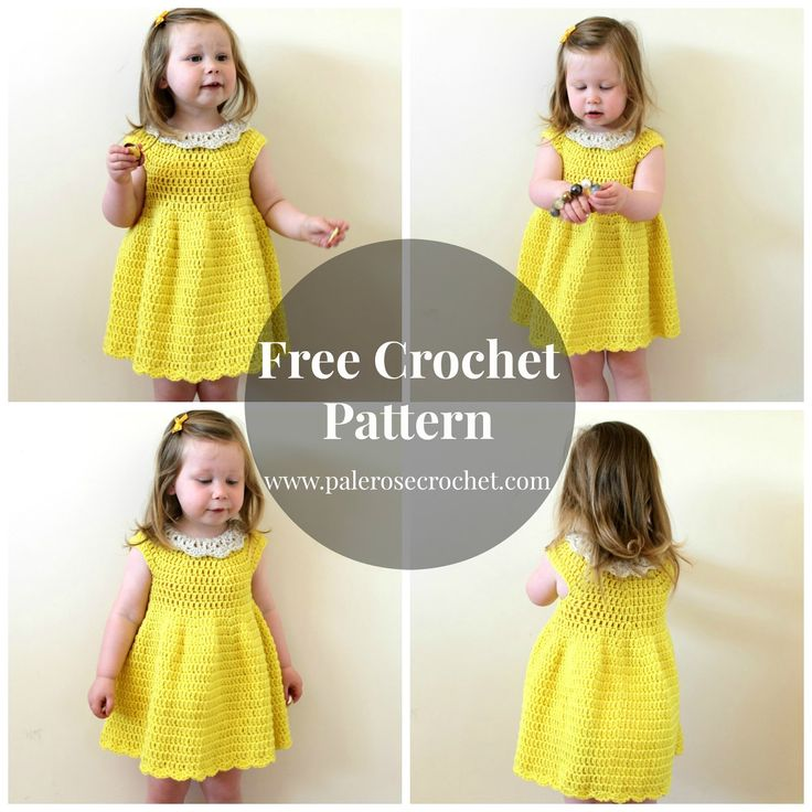 Pale Rose Crochet: Crochet Toddler Summer Dress