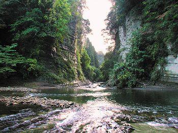 ■養老渓谷■ 上総中野駅からバスで15分。養老川の上流、蕪来川が合流するあたりにある養老渓谷です。 滝や断崖等などの渓谷美をたっぷりご堪能ください。