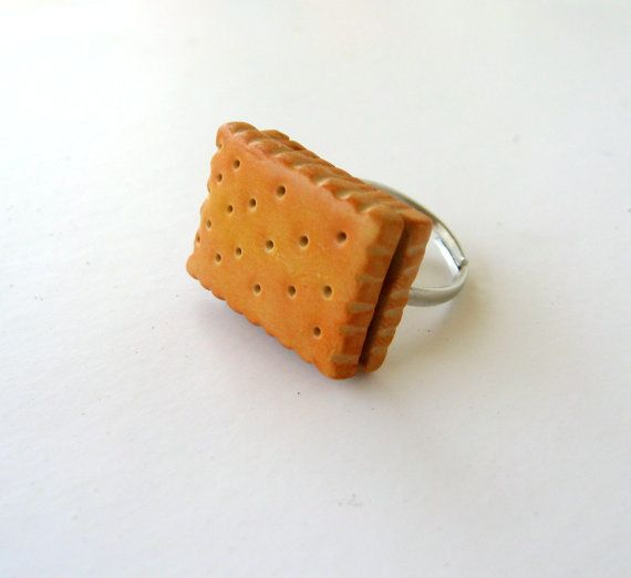 Miniature biscuit ring polymer clay cookie by PieceOfCakeHJ
