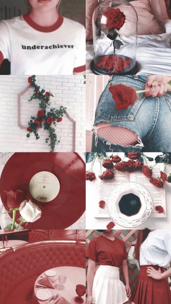 Pin By Agustin Vidal On Fondos Collage Red Wallpaper Aesthetic Wallpapers Aesthetic Iphone Wallpaper