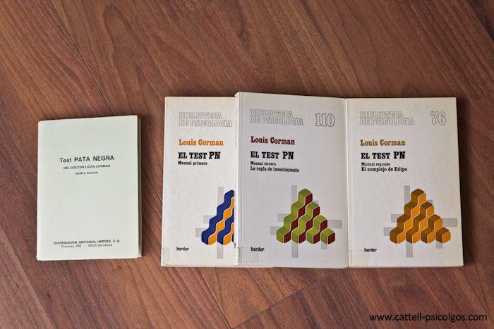 Test Pata Negra del Doctor Lous Comman. Libros: El test PN. Manual Primero. Manual tercero. La regla de investimiento. Manual segundo. El complejo de Edipo. Editorial Heder