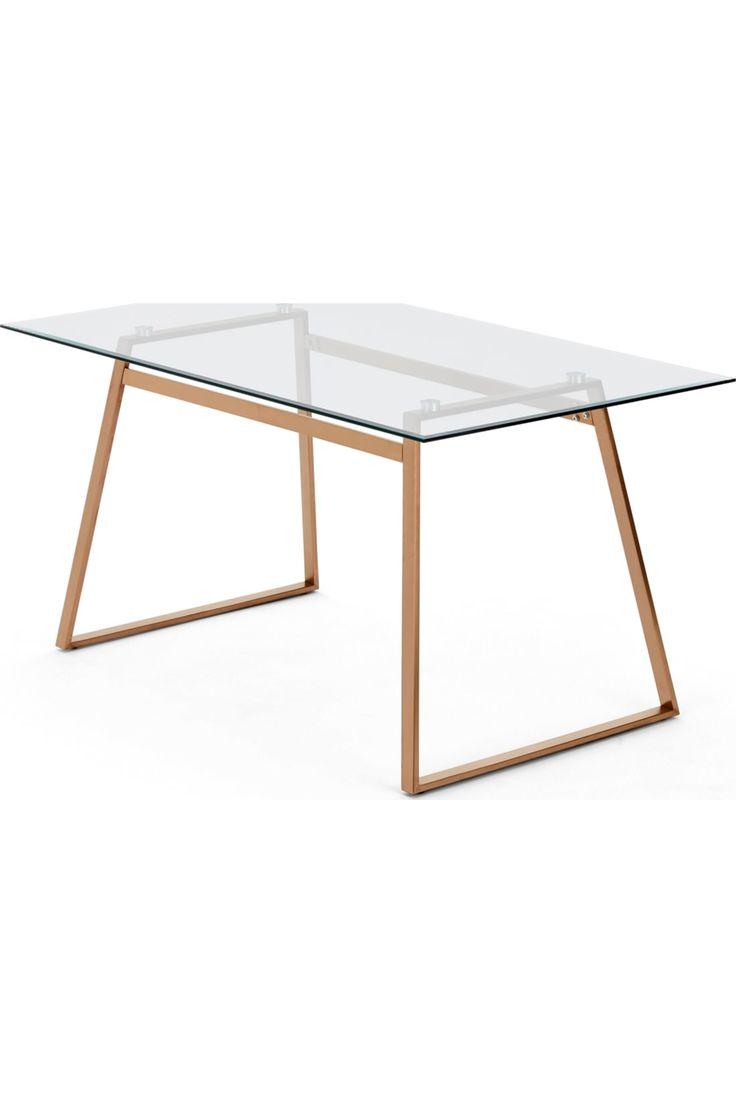 MADE Esstisch, Kupfer   Esstisch glas, Esstisch, Tischdesign