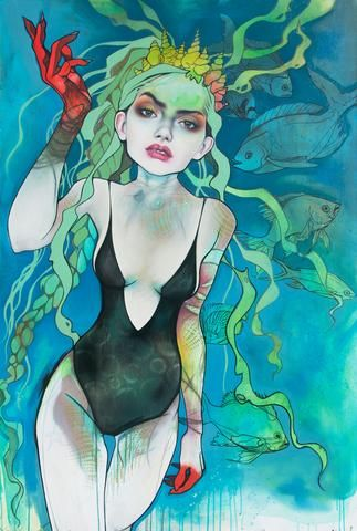 Nami was initially painted on the theme ofocean awareness. She illustrates my idea of a...