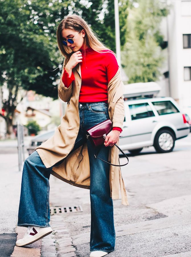 Fair Fashion Outfit: Lady in red + unser Best Of: Online Second Hand Shops