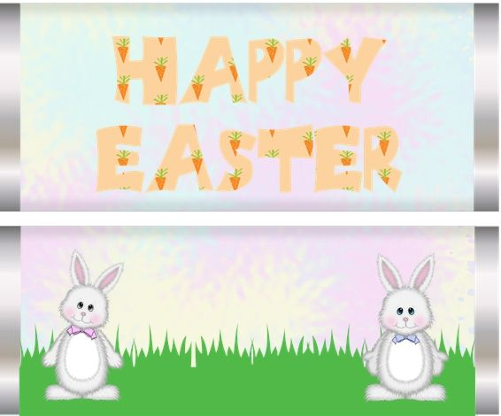 Easter Bunny Friends Candy Wrapper | Clip Art | Pinterest