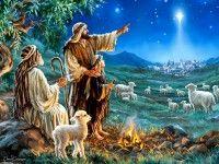 Обои для рабочего стола Рождество Христово, Рождественская Звезда, пастухи, Dona Gelsinger