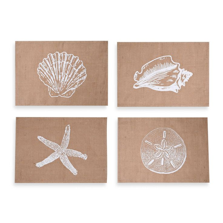 Assorted Coastal Jute Placemats - Frame for decoration