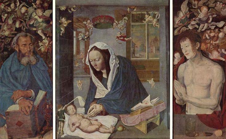 Алтарь, общий вид, c.1496 - Альбрехт Дюрер - WikiArt.org