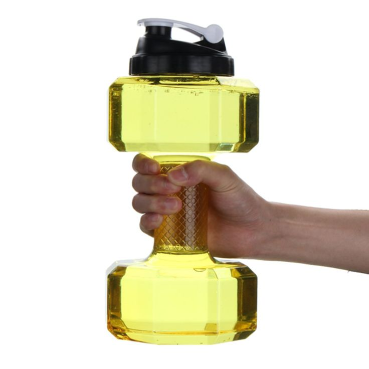2.2L Large Capacity Dumbbell Shaped Bpa-Free Plastic Water Bottle