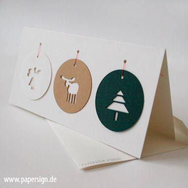 weihnachtskarte+TAGS+°+mit+weihnachtsanhängern+von+PAPERSIGN+auf+DaWanda.com