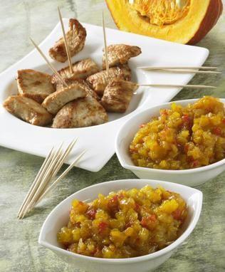Kürbis-Chutney                              -                                  Ein fruchtiges Chutney mit vielen Gewürzen für den Herbst