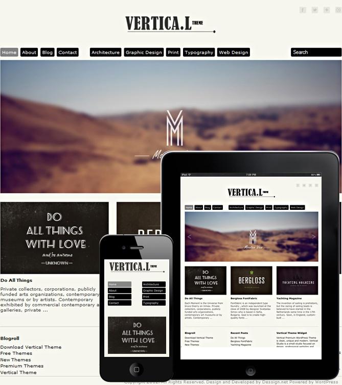 Vertical Theme Responsive | WordPress Themes Free & Premium Grid Based | Dessign