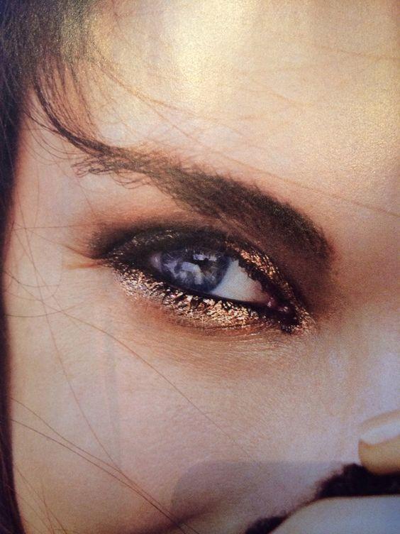 Gold eyes.