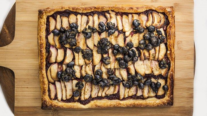 Blueberry and Apple Flaky Tart