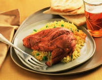 Love this Tandoori Chicken! I have a Penzeys Spice store near me so I just use their Tandoori seasoning blend in place of all the ground spices this recipe calls for, and it is great and easy! I pair it with Basmati Rice :)
